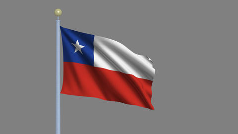 Flag of Chile Stock Video Footage