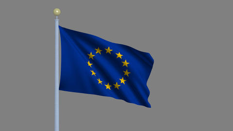 Flag of the European Union Stock Video Footage