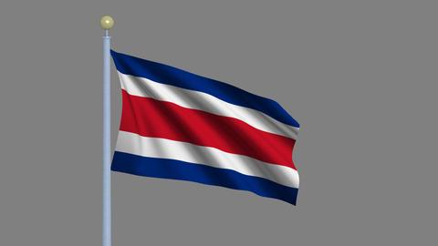 Flag of Costa Rica Animation