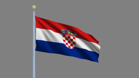 Flag of Croatia Stock Video Footage