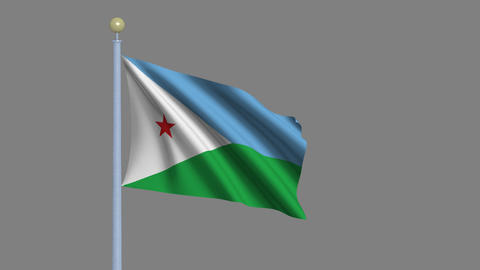 Flag of Djibouti Animation