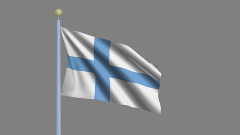 Flag of Finland Footage