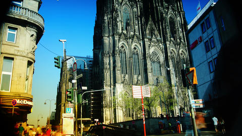 The north side of Cologne Cathedral in Cologne, Ge Live Action
