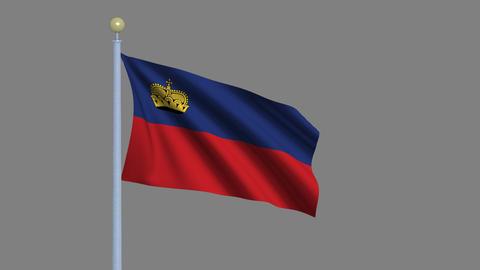 Flag of Liechtenstein Animation