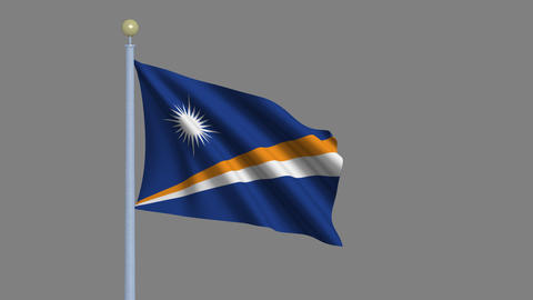 Flag of the Marshall Islands Animation