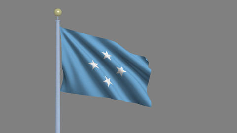 Flag Of The Federated States Of Micronesia stock footage