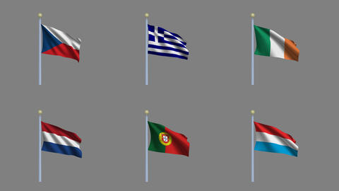 Flags Set 4 Animation