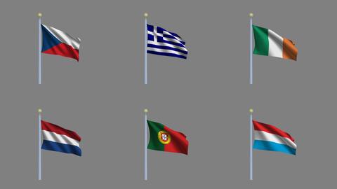 Flags Set 4 Animation