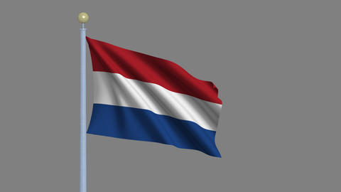 Flag of the Netherlands Animation