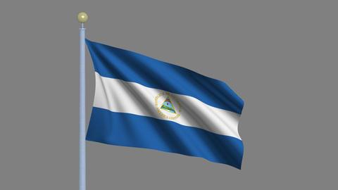 Flag of Nicaragua Animation