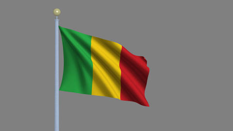Flag of Mali Animation