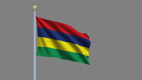 Flag of Mauritius Stock Video Footage