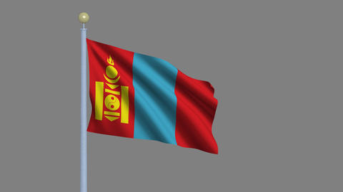 Flag of Mongolia Animation