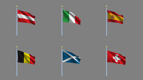 Flags Set 02 Animation