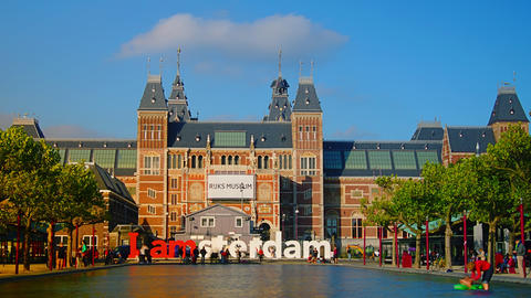 Amsterdam Is A Large European Capital With A Numbe stock footage