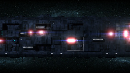 Large Space Ship Motion Background 2 stock footage