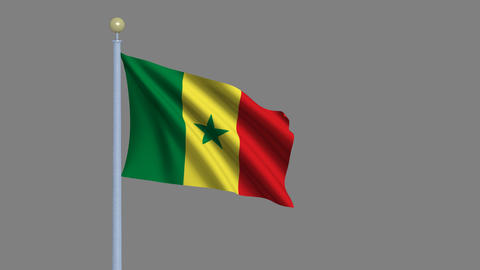 Flag of Senegal Animation