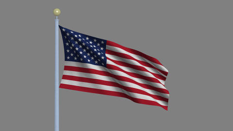 Flag of the USA Stock Video Footage