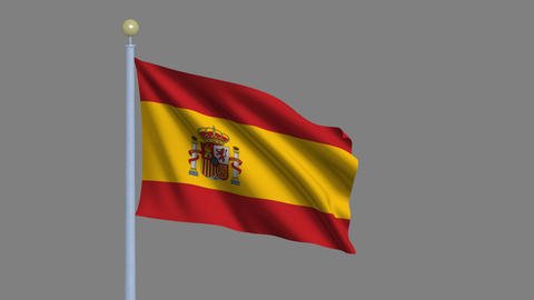 Flag of Spain Stock Video Footage