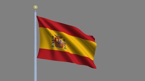 Flag of Spain Animation