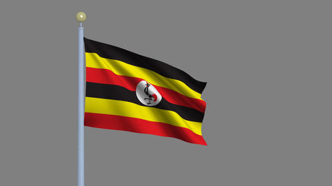 Flag of Uganda Animation