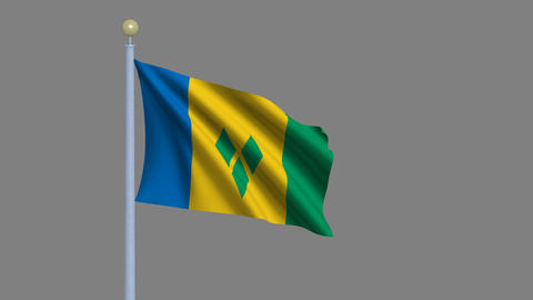 Flag of Saint Vincent and the Grenadines Animation
