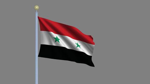 Flag of Syria Animation