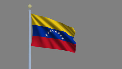 Flag of Venezuela seamless loop Animation