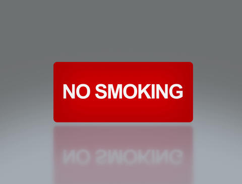 No smoking rectangle signage 4 K Animation