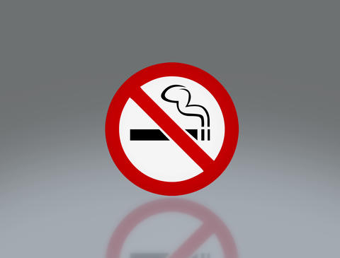 No smoking signage 4 K Animation