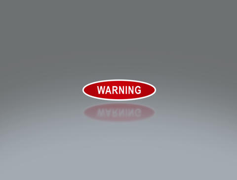 oval signage of warning 4 K Stock Video Footage