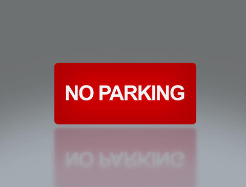 rectangle signage of NO parking 4 K Animation