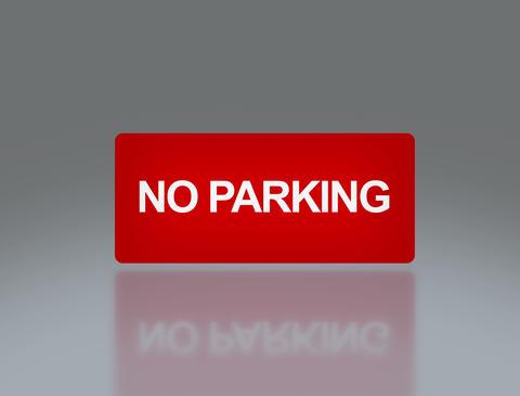 rectangle signage of NO parking 4 K Animation