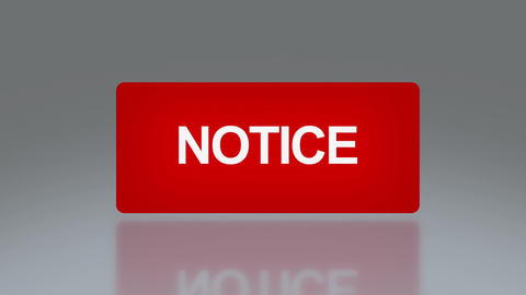 rectangle signage of notice Animation