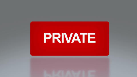 rectangle signage of private Stock Video Footage