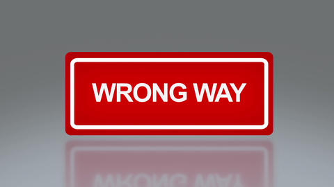 rectangle signage of wrong way Animation
