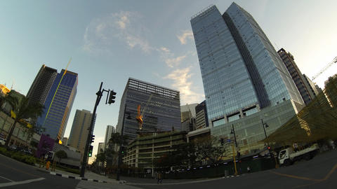 Bonifacio global city metro Manila timelapse Stock Video Footage
