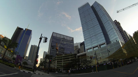 Bonifacio global city metro Manila timelapse Stock Video Footage