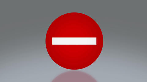 road sign no entry Animation
