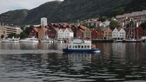 Bryggen in Bergen Footage