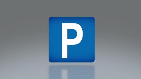 road sign parking Animation