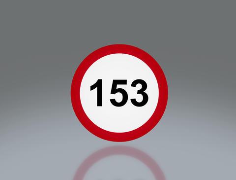 road sign speeding 4 K Animation