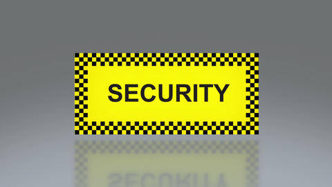yellow Security signage Animation