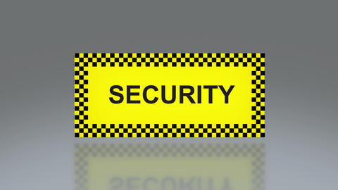 yellow Security signage Stock Video Footage
