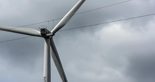 4K, Wind Turbine Close. Native camera output, no r Footage