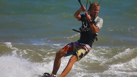 Kite surfer Stock Video Footage