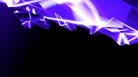 4k Abstract blue glass fragment curve&laser... Stock Video Footage