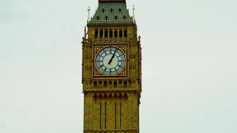 View Of Big Ben Clock, Time Lapse stock footage