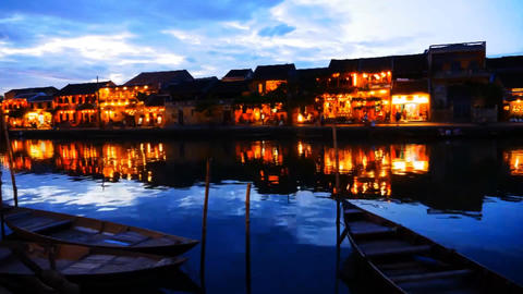 Vietnam Hoi An the old town night Stock Video Footage