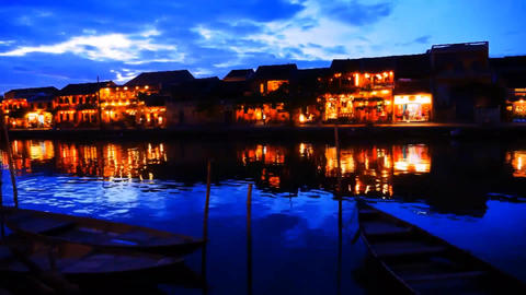 Vietnam Hoi An the old town night Live Action